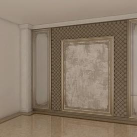 Bed Background Decoration Z44 3d model Download  Buy 3dbrute