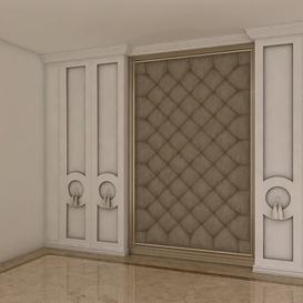 Bed Background Decoration Z45 3d model Download  Buy 3dbrute