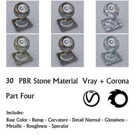 30 Stone Materials -Part 4 Z106 3d model Download  Buy 3dbrute