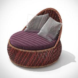 Wicker chair DEDON Dala Z8 3d model Download  Buy 3dbrute