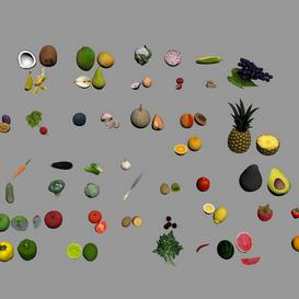 Fruits And Vegetables Z61 3d model Download  Buy 3dbrute