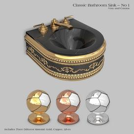 Classic wash basin - No 1 3d model Download  Buy 3dbrute