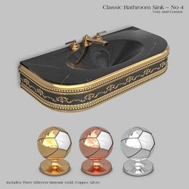 Classic wash basin - No 4 3d model Download  Buy 3dbrute