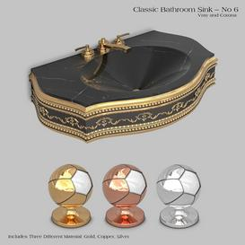 Classic wash basin - No 6 3d model Download  Buy 3dbrute