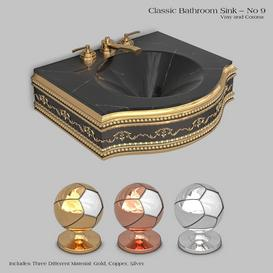 Classic wash basin - No 9 3d model Download  Buy 3dbrute
