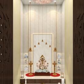 Mandir room design 01 3d model Download  Buy 3dbrute