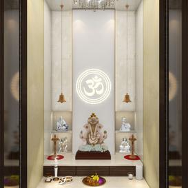 Mandir room design 02 3d model Download  Buy 3dbrute