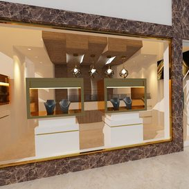 jewelry shop 3d model Download  Buy 3dbrute