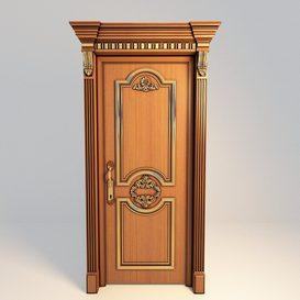 Classic-door 3d model Download  Buy 3dbrute