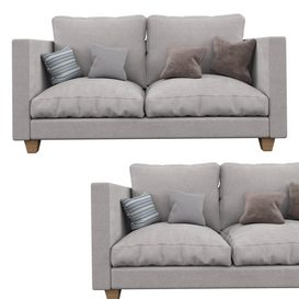 Double sofa 3d model Download  Buy 3dbrute