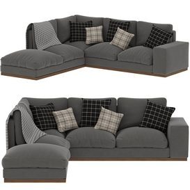 Denver Left-hand Corner Sofa 3d model Download  Buy 3dbrute