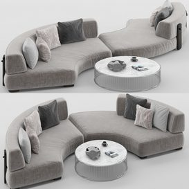 Florida sofa set MT 01 LT 3d model Download  Buy 3dbrute