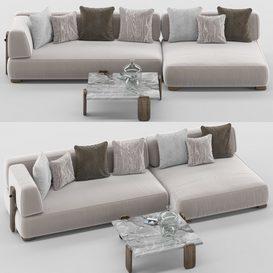 Florida sofa set MT 02 LT 3d model Download  Buy 3dbrute