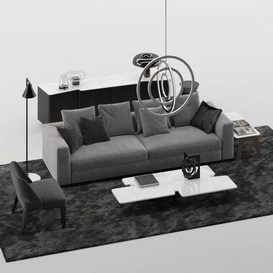 SOFA Set MT 03 LT 3d model Download  Buy 3dbrute
