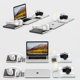 Workplace Silver MacBook 3d model Download  Buy 3dbrute