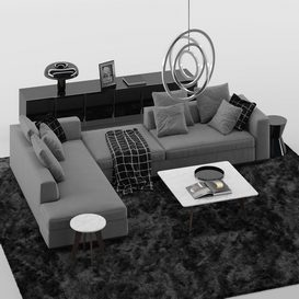 SOFA Set MT 04 LT 3d model Download  Buy 3dbrute