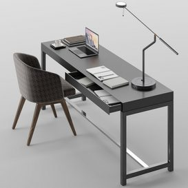 Fulton desk set MT 01 LT 3d model Download  Buy 3dbrute