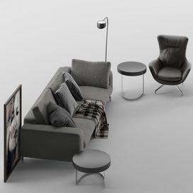 Sherman Sofa MT 01 LT 3d model Download  Buy 3dbrute