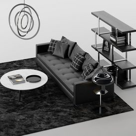 SOFA Set MT 05 LT 3d model Download  Buy 3dbrute