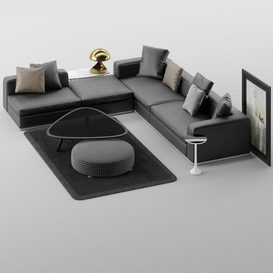 Powell Sofa MT 01 LT 3d model Download  Buy 3dbrute