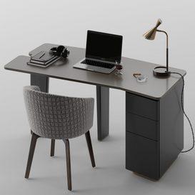 Jacob desk set MT 01 LT 3d model Download  Buy 3dbrute