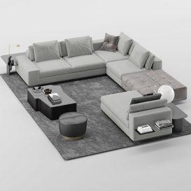 Lawrence Sofa MT 03 LT 3d model Download  Buy 3dbrute