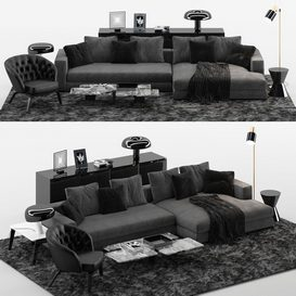 Hamilton Sofa MT 01 LT 3d model Download  Buy 3dbrute