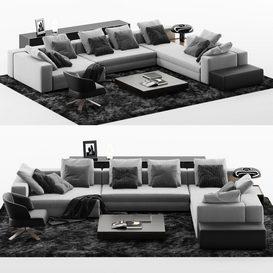 SOFA Set MT 07 LT 3d model Download  Buy 3dbrute