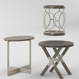 Bernhardt Clarendon Round End Tables 3d model Download  Buy 3dbrute