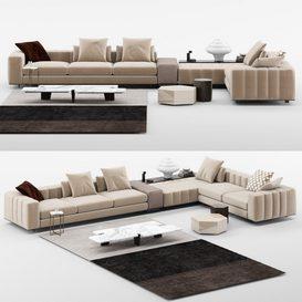 Freeman Sofa mt 01 LT 3d model Download  Buy 3dbrute