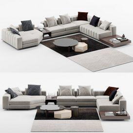 Freeman Duvet Sofa mt 01 LT 3d model Download  Buy 3dbrute
