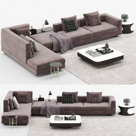 Alexander Sofa mt 2 LT 3d model Download  Buy 3dbrute