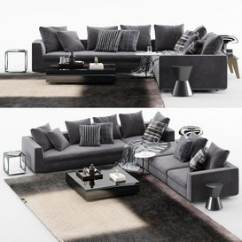 Powell Sofa MT 02 LT 3d model Download  Buy 3dbrute
