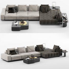 Lawrence Sofa MT C LT 3d model Download  Buy 3dbrute