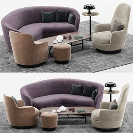 Sofa And Arm Chair Set mt 01 LT 3d model Download  Buy 3dbrute