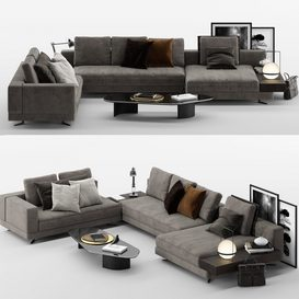 white sofa MT 02 LT 3d model Download  Buy 3dbrute