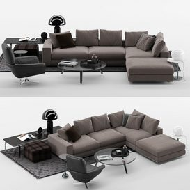 Hamilton Sofa MT 02 LT 3d model Download  Buy 3dbrute