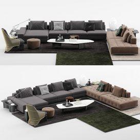Lawrence Sofa MT 04 LT 3d model Download  Buy 3dbrute
