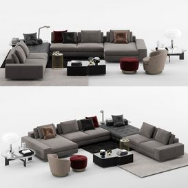 Lawrence Sofa MT 05 LT 3d model Download  Buy 3dbrute