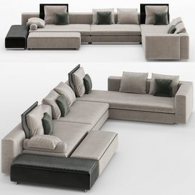 Yang Modular Sofa MT 01 LT 3d model Download  Buy 3dbrute