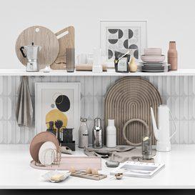 Kitchen decor 2 3d model Download  Buy 3dbrute