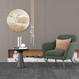 Modern Chair & Decor Combination 3d model Download  Buy 3dbrute