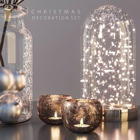 Christmas Decoration Set 3d model Download  Buy 3dbrute