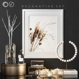 Decorative set 1b 3d model Download  Buy 3dbrute