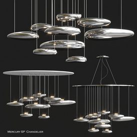 Mercury SP Chandelier by Artemide 3d model Download  Buy 3dbrute