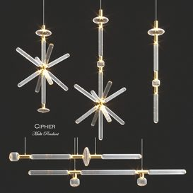 Cipher Multi Pendant Collection by LASVIT 3d model Download  Buy 3dbrute