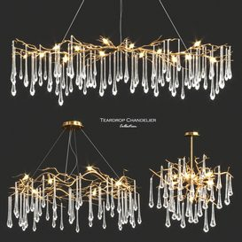 John-Richard Teardrop Chandelier Collection 3d model Download  Buy 3dbrute
