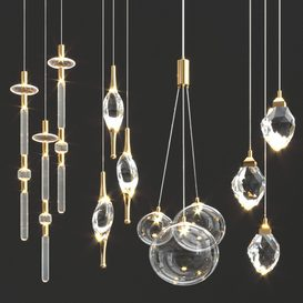 Hanging light collection 72 3d model Download  Buy 3dbrute