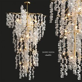 Shiro Noda Chandelier by John Richard 3d model Download  Buy 3dbrute