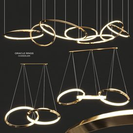 Oracle Rings Chandelier by Christopher Boots 3d model Download  Buy 3dbrute
